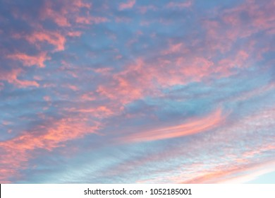 While the evening sky, sunset, beautiful, very different from it every day ever find.