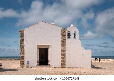 While washed old church in Sagres, Portugal