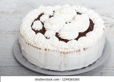Whiped Cream and Chocolate Cake