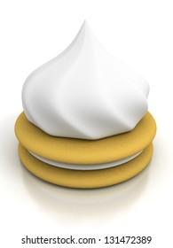 whipped cream meringues cake