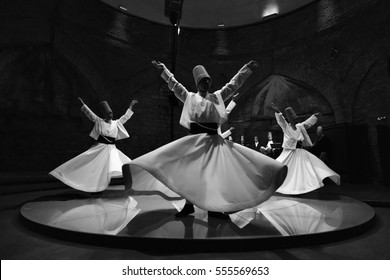 Whirling Dervishes and Musicians Perform-Istanbul -Turkey 11-02-2013