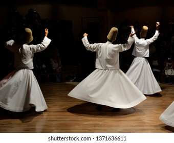 Whirling Dervishes show, sufi music, cappadocia, turkey