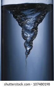 whirlpool in a column of water
