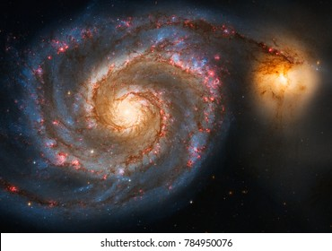 The Whirlpool Galaxy (M51) in the constellation of Canes Venatici, elements of this image furnished by NASA