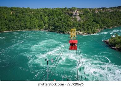 Whirlpool rapids, Whirlpool Aero Car, Niagara river, Canadian