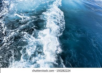 Whirlpool of ships propeller