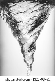 Whirlpool underwater in grey, closeup view