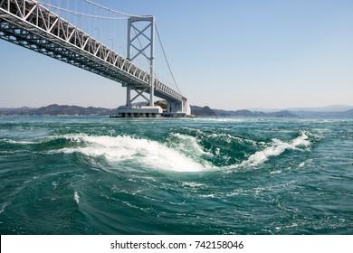 Whirlpools Of Naruto Straight, Spring Tidal Force, Tokushima Japan