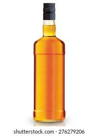 whiskey bottl on white background