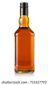 whiskey bottle blank on white background with clipping path