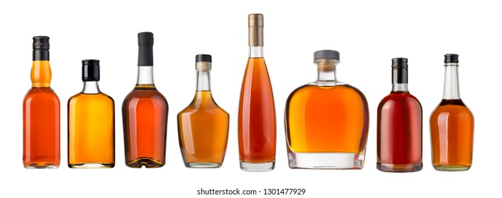 whiskey bottlel isolated over a white background