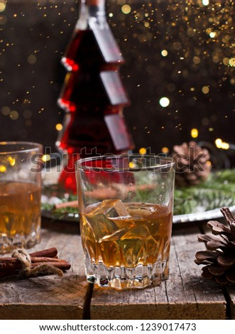 whiskey brandy liquor christmas time stock photo edit now
