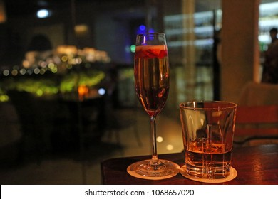 Whiskey and Champagne