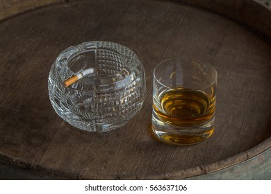 whiskey and cigarette