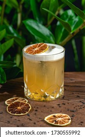 A whiskey cocktail and a mix of bourbon and lemon juice complement the piquant taste of bergamot syrup