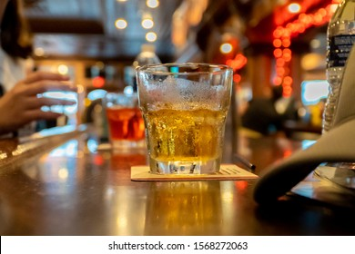 Whiskey Drink in a Bar