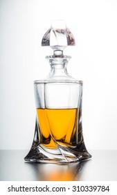 Whiskey, glass
