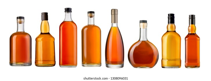 whiskey bottleы isolated over a whte background