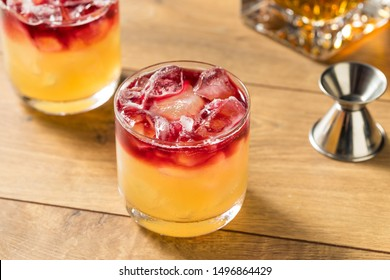 Whiskey New York Sour Cocktail with Wine