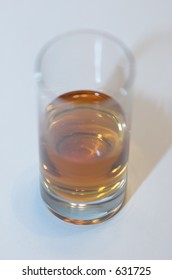 Whiskey in a shot glass