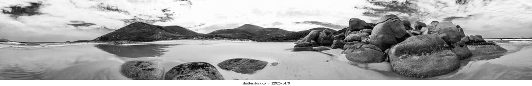 Whisky Bay panoramic view in Wilsons Promontory Marine Park, Australia.