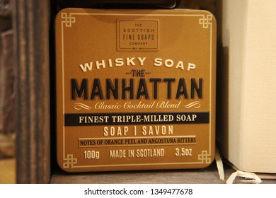 Whisky Cocktail Soaps in a Tin. Scottish Fine Soaps.