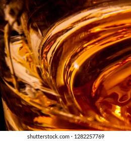 Whisky liquid closeup