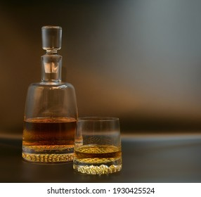 Whisky Set glass and bottle