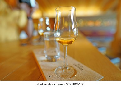 Whisky in tasting glasses
