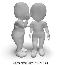 Whispering Gossip 3d Characters Having Secrets And Blab