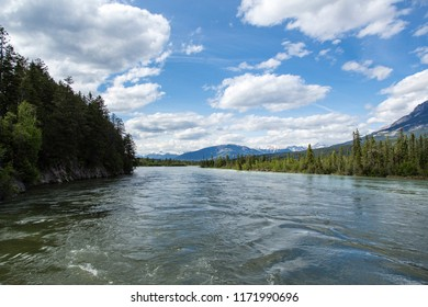 Whispering Wood Ln Field/British Columbia/Canada - Jun 02 2018: View the Kicking Horse River
