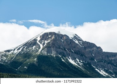 Whispering Wood Ln Field/British Columbia/Canada - Jun 02 2018: View Mountains around the Upper Spiral Tunnel