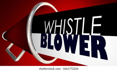 Whistle Blower Megaphone Bullhorn Expose Wrong Injustice Lies 3d Illustration
