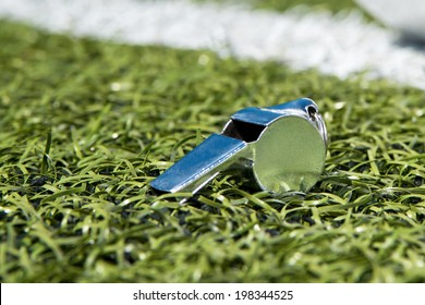 Whistle on a soccer field