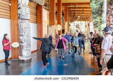 Whistler, BC /  Canada - 06/22/2015 Squamish Lil'wat Cultural Centre is featured as an authentic Indigenous experience
