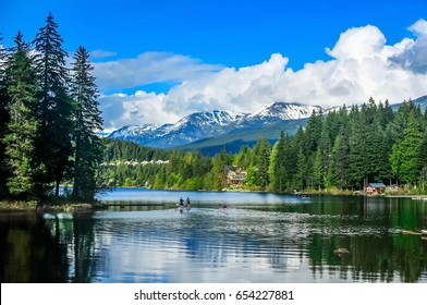 Whistler, British Columbia, CANADA - June 18, 2016. View of the Alta Lake in Whistler, BC, Canada.