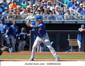 Whit Merrifield , 2nd baseman for the Kansas City Royals at Peoria Sports Complex in Peoria,AZ USA March 2,2018.