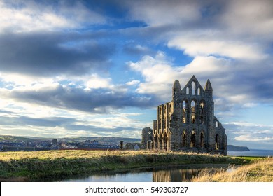 Whitby Abbey, evening light