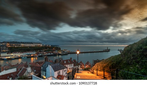 Whitby Harbour from the Abbey Steps