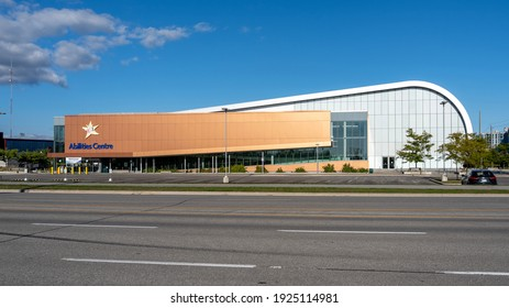 Whitby, On, Canada - September 20, 2020: Abilities Centre building in Whitby, Ontario, Canada. Abilities Centre is a 125,000 square foot facility that offers sports, fitness, arts and life skills prog