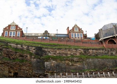 Whitby Pavilion reopens on the 12th June, 2021.  Photo taken at Whitby Pavilion, Whitby West Cliff, North Yorkshire, England, on Friday, 4th June.