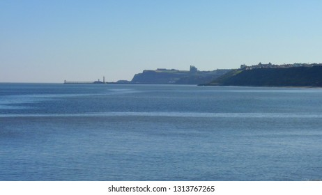 Whitby from Sandsend - a distant view