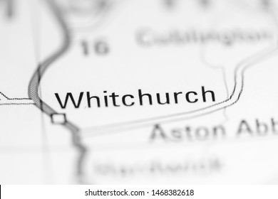 Whitchurch. United Kingdom on a geography map