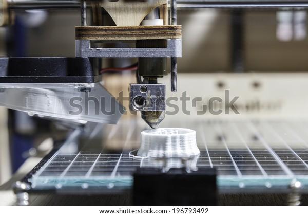 White 3D printing piece / 3D Printing detail
