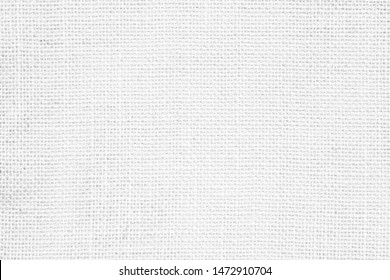 White abstract cotton towel fabric. Wallpaper of artistic wale linen canvas. Blanket or Curtain of pattern and copy space for text. Interior design.