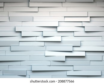 white abstract cracked background. render