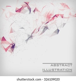 White abstract illustration