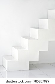 white  abstract interior