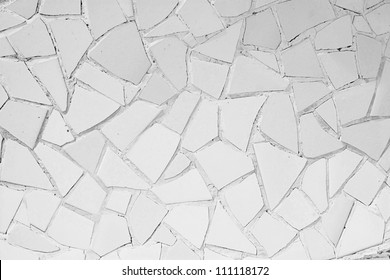 White abstract mosaic