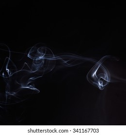 white abstract smoke on a black background